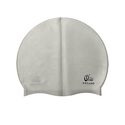 Durable Flexible Silicone Swimming Hat Cap White
