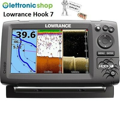 Lowrance Hook 7 Chirp - Eco/gps  Trasduttore 83/200Khz + 455/800Khz Downscan