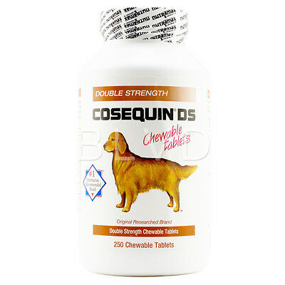 Nutramax COSEQUIN DS Double-Strength For Dogs Chewable Tablets 250 Count