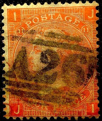 Great Britain Scott # 43  Used Stamp  Value At $65.00  Plate 11