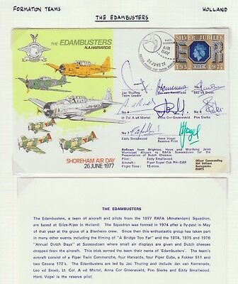 Great Britain 1977 The Edambusters Air Day Pilot Signed Cover