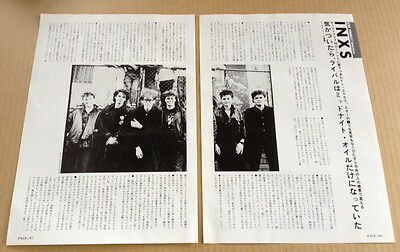1986 INXS 2pg 1 photo JAPAN magazine article / press clipping cutting in01r