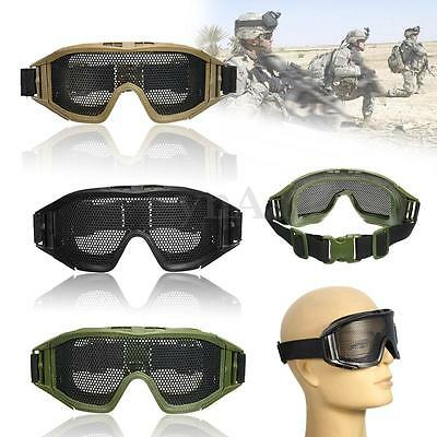 CS Tactical Airsoft Safety Goggle Glasses SWAT Eye Protection Metal Mesh Mask