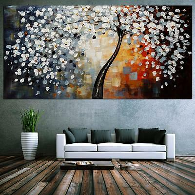 peinture l 39 huile tableau abstraite arbre de fleur pop art moderne toile murale eur 18 99. Black Bedroom Furniture Sets. Home Design Ideas