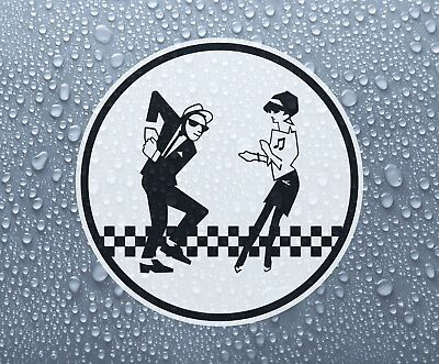 Ska man & Beat girl decal sticker printed vinyl - 2-tone rude boy mod