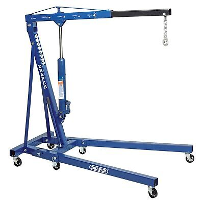 Draper Workshop 2 Tonne / 2000kg Folding Engine Crane / Hoist / Lift - 02611