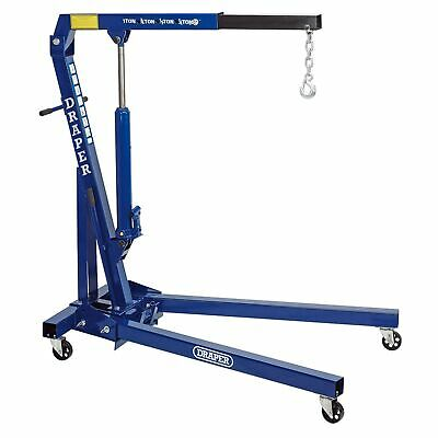 Draper Workshop 1 Tonne / 1000kg Folding Engine Crane / Hoist / Lift - 02610