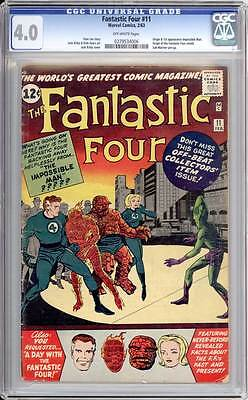Fantastic Four # 11  Origin/1st app. The Impossible Man !  CGC 4.0 scarce book !