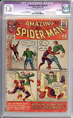 Amazing Spider-Man # 4  Nothing can Stop the Sandman !  CGC 1.8  scarce book!