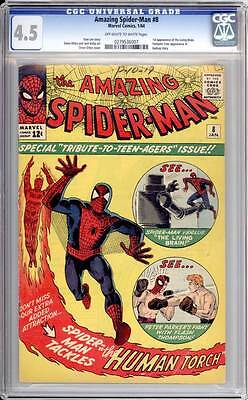 Amazing Spider-Man # 8  The Living Brain !  CGC 4.5  scarce book!