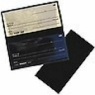 Black Blank Leather Checkbook Cover