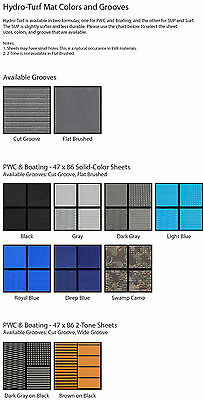 "Hydro-Turf Mat Material PWC & Boating - 47"" x 86"" - You Choose Color, Groove, 3m"