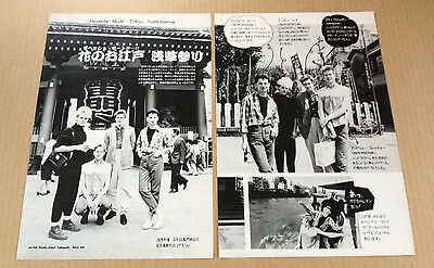 1983 Depeche Mode 3pg 6 photo in JAPAN mag feature /vintage clipping cutting d6m