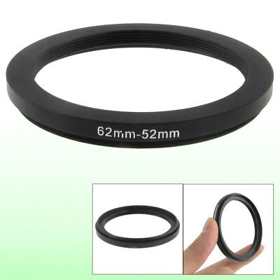 62mm-52mm 62mm to 52mm Black Step Down Ring Adapter for Camera