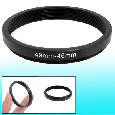 49mm-46mm 49mm to 46mm Black Step Down Ring Adapter for Camera
