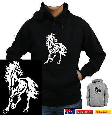 Horse stallion pony Funny Hoodies funny T-Shirts Jumper Fleecy size THICK WARM