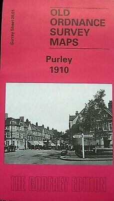 OLD ORDNANCE SURVEY DETAILED MAPS  PURLEY  SURREY 1910 Godfrey Edition New