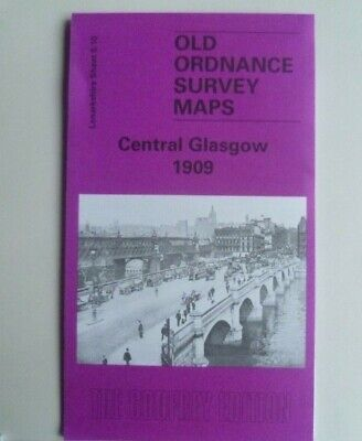 Old Ordnance Survey Maps Central Glasgow Scotland 1909 Godfrey Edition Offer
