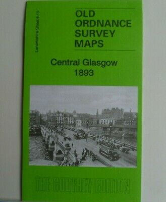 Old Ordnance Survey Maps Central Glasgow Scotland 1893 Godfrey Edition New