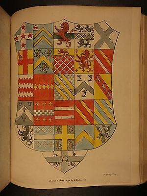 1793 1st ed Heraldry in England Illustrated Arms Hand-Colored St Albans Dallaway