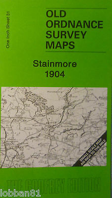 Old Ordnance Survey Map Stainmore Brough Warcop Lune Moor & Map Brough 1904 S31