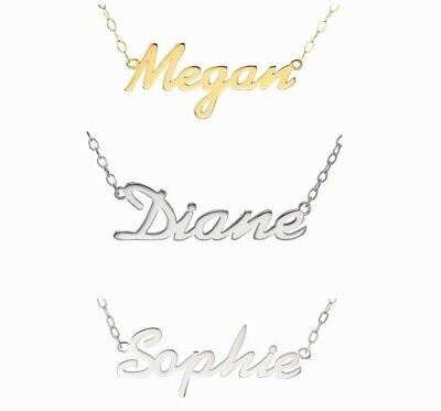 Personalised Name Necklace 9Ct Gold / 925 Sterling Silver -  Choose Any Name