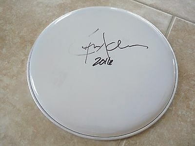 "Chris Adler Lamb Of God Megadeth Signed Autographed 12"" Drumhead PSA Guaranteed"