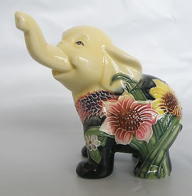 Old Tupton Sunflower Elephant Ceramic Figurine * New in Box *