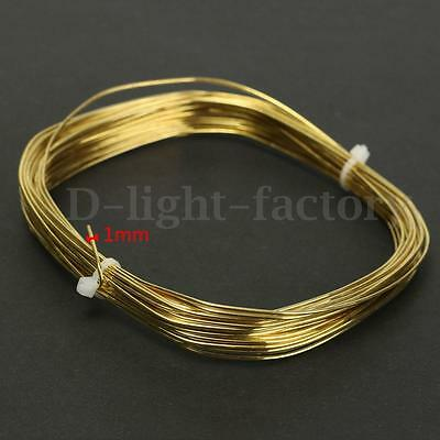 Mixed Size Brass Copper Round Wire For DIY Craft Beading Jewellery Making Gold