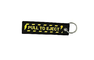 Insert after flight leychain key ring tag luggage Remove before pull to eject