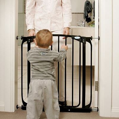 Dreambaby Swing Closed Pressure Fit Stair Gate and Extension - Gate + 2x 9cm Ext