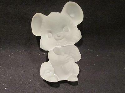 "Goebel Frosted Glass Mouse Figurine 3"" tall"