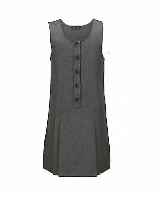 Top Class Girls Pack of Two Woven Button Pinafores