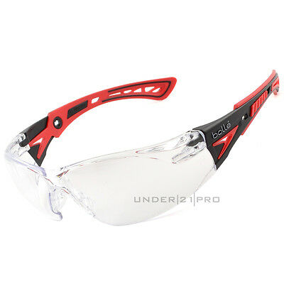 Bollé Safety Rush+ RUSHPPSI Safety glasses glasses Colorless mount red