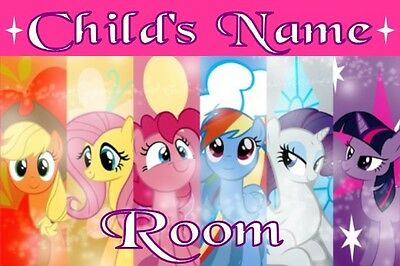 My Little Pony Personalised Kids Bedroom Door Plaque / Sign