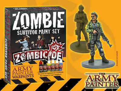 Zombicide Zombie Survivor Paint Set The Army Painter Warpaints Brand New