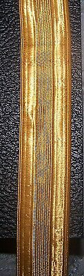 Gold Lace Trim Royal Navy Army Coat Band Uniform Officer Vestment 1 inch Braid M