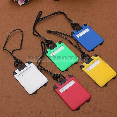 10x Suitcase Luggage Tags Trolley Plastic Label Travel Baggage Address Name ID
