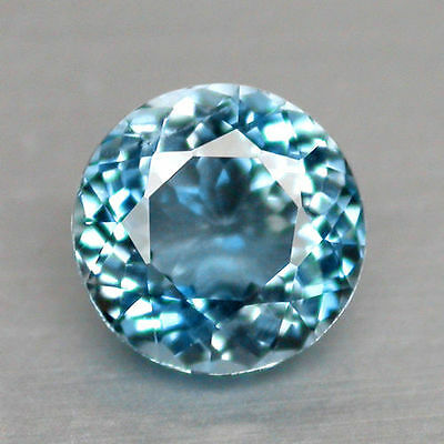 UNUSUAL 10mm ROUND-FACET LIGHT-BLUE LAB AQUAMARINE GEMSTONE
