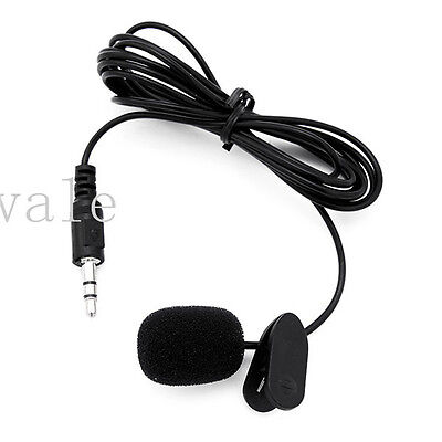 3.5mm Stereo Active Cam Tie Clip On External Mic Microphone for GoPro 3 4 Sj4000