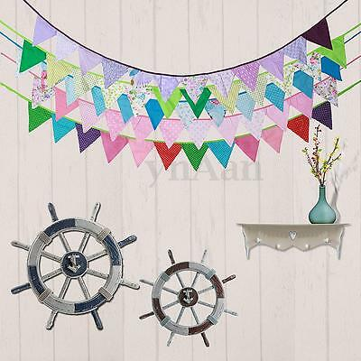 2M Cotton Triangle Flag Banner Pennant Bunting Party Wedding Birthday Decoration