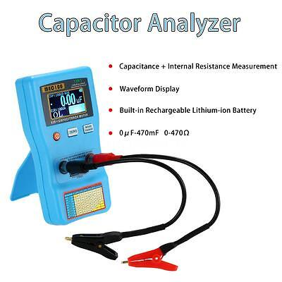 2 in 1 Digital Auto-ranging Capacitor Analyzer ESR Meter Capacitance Tester Y4P8