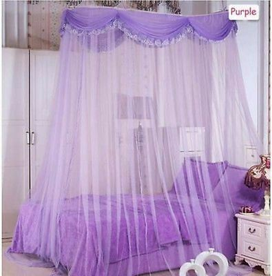 Luxury Ellipse Mosquito Net Bed Canopy Princess Bedding Twin / Queen / King Size