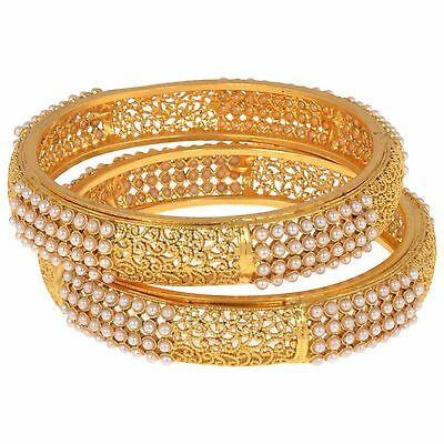 Indian Fashion Jewelry BRACELETS  bollywood ethnic gold plated traditional kadas