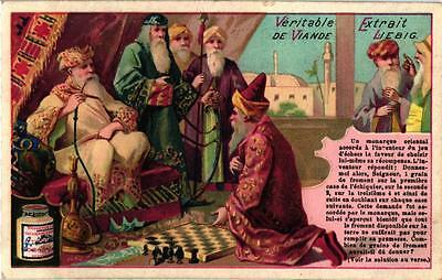 6 Cards c1892 Problems Riddles Solutions on the Backside Chess Playing Waterpipe