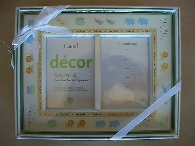 Baby's First Photo & Announcement Frame, Perfect For Boy Or Girl, NEW IN BOX!!!