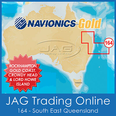Navionics Gold Small Card - 8G164S Eastern Australia - Gps Map Chart Qld