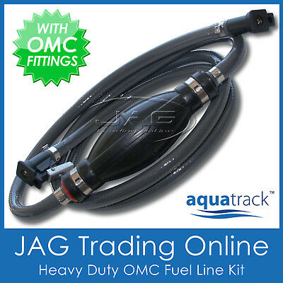 "5/16"" OUTBOARD BOAT FUEL LINE - JOHNSON EVINRUDE OMC - 8mm ID Marine Hose/Primer"