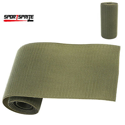 Airsoft Tactical Military Sew On DIY Hook Tape Stick 11cm x 1m Olive Drab