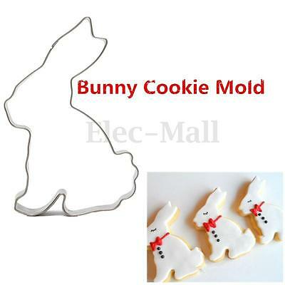 Stainless Steel Rabbit Bunny Cookie Cutter Cake Baking Chocolate Mould Easter